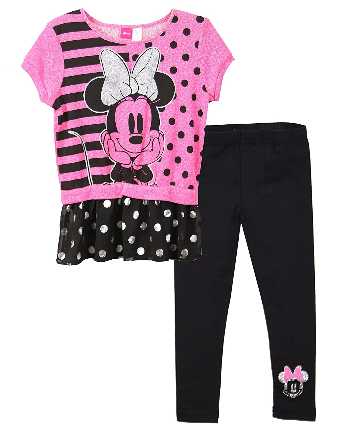 b9ee17dbc Cute polka dot at the bottom of the t-shirt and leggings. Authentic Disney  licensed product. Comfortable, cute and good for all season, high quality  print