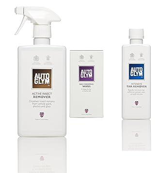 Autoglym - Eliminador de Insectos activo, toallitas para limpiar excrementos de pájaros y Intensivo Tar Remover: Amazon.es: Coche y moto