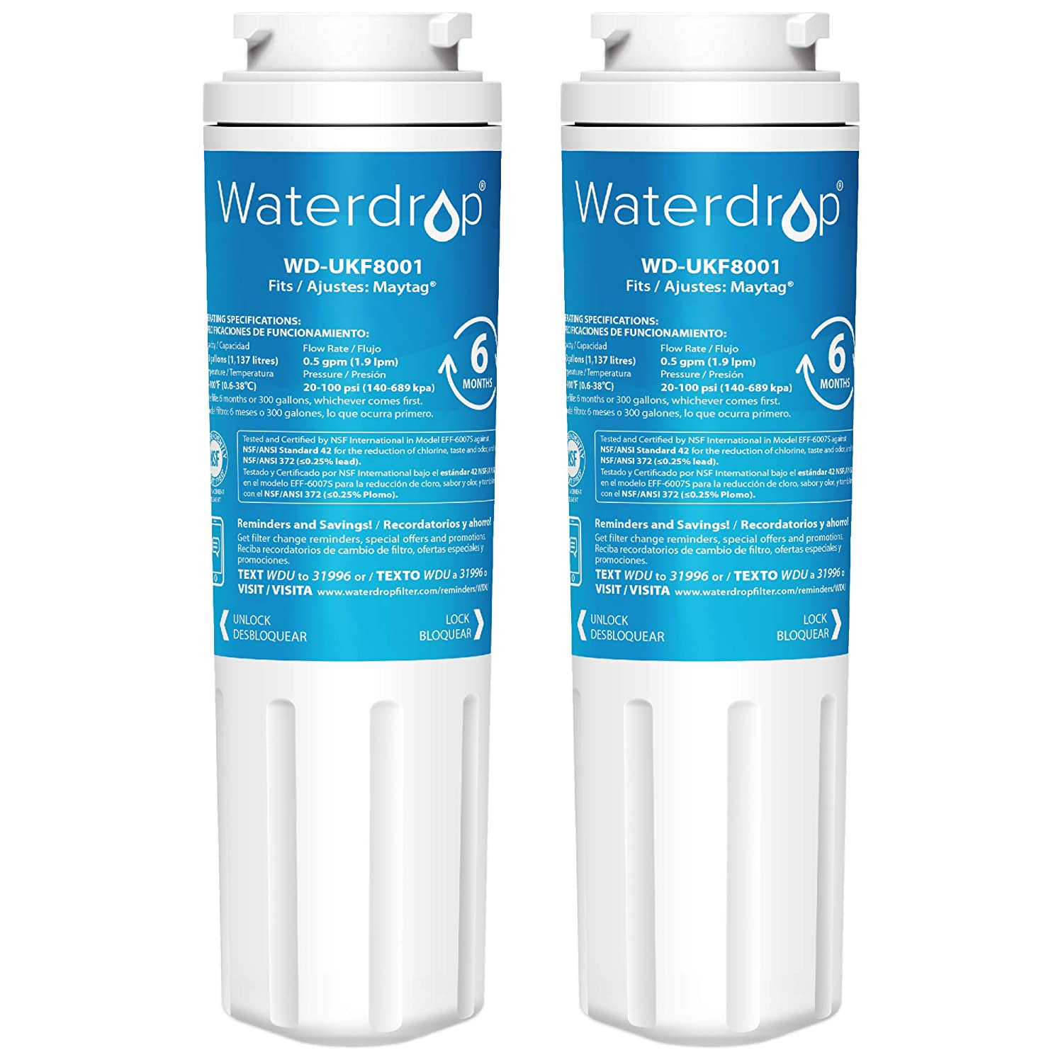 Waterdrop UKF8001 Replacement Refrigerator Water Filter