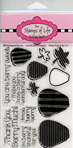 Sentiment Strawberry Stamps for Card-Making and Scrapbooking Supplies by The Stamps of Life - MoreStrawberries2Stamp