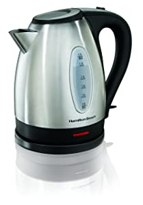 Hamilton Beach 40880 Electric Kettle, 1.7 L, Stainless Steel/Silver (Certified Refurbished)