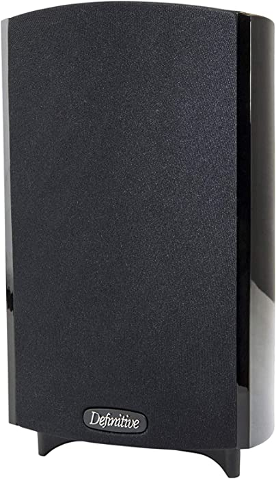 Definitive Technology ProMonitor 800-2-Way Satellite or Bookshelf Speaker for Home Theater Speaker System   Dolby Surround Sound, Powerful Bass   5-Way Binding Post   Easy Mounting (Single, Black)