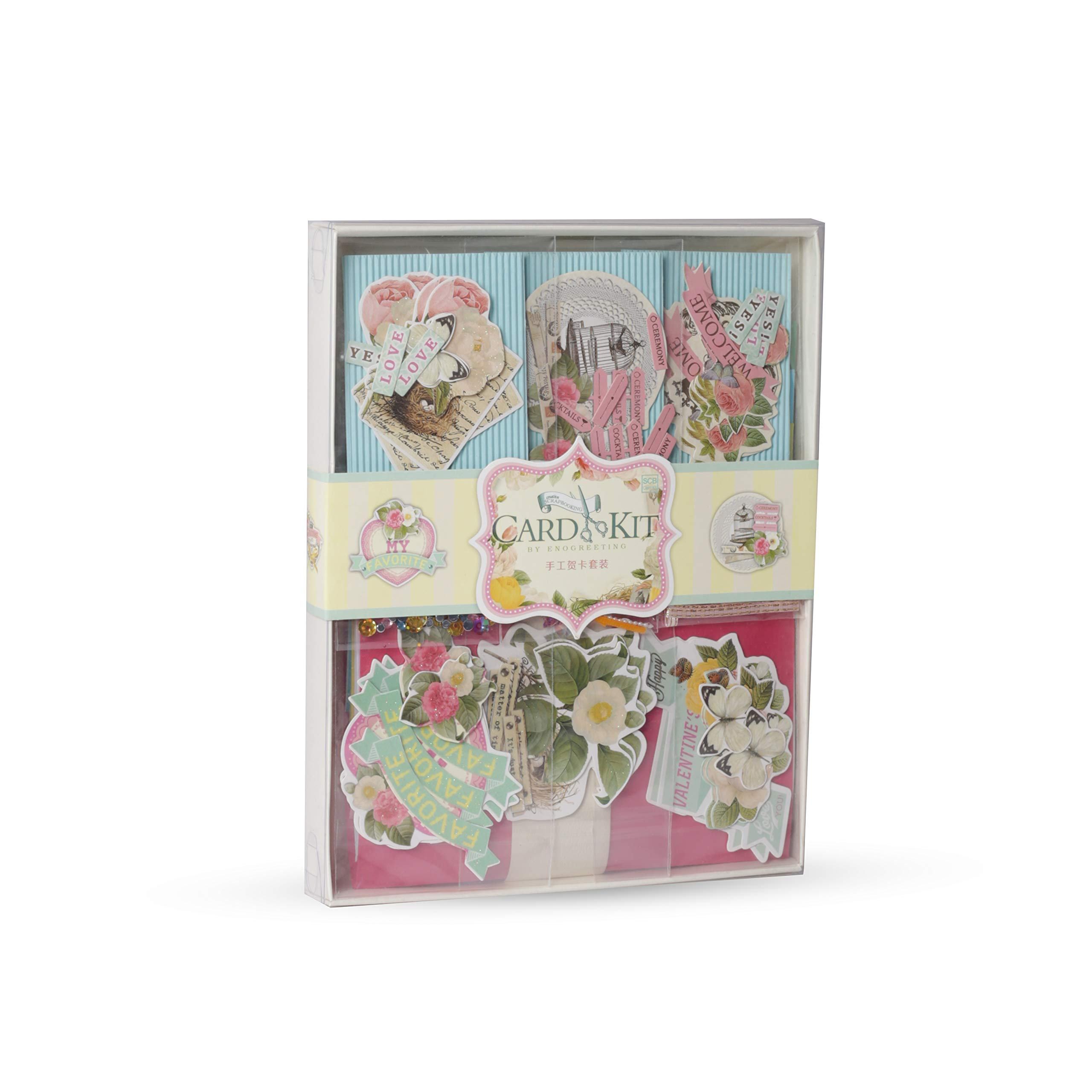 PICKME Card Making Kit Pack, DIY Handmade Greeting Card Kits for Kids, Beautiful Floral Greeting Cards for Birthday, Christmas, Anniversary, Mother's Day, Thanksgiving Day