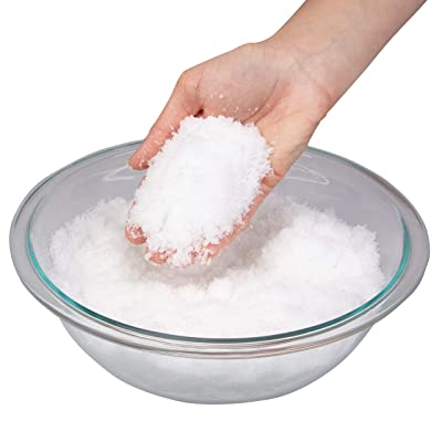 Toys By Nature Instant Miracle Snow Powder - Kids Play Snow, Safe & Non Toxic - Makes Over 2 Gallons of Snow, Just Add Water - 100g Jar: Toys & Games