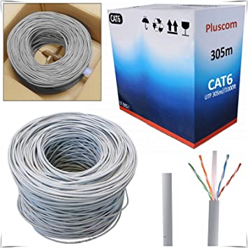 Safekom 305 M RJ45 cat6e rollo Bobina de cable Gigabit Ethernet de red UTP Router ADSL