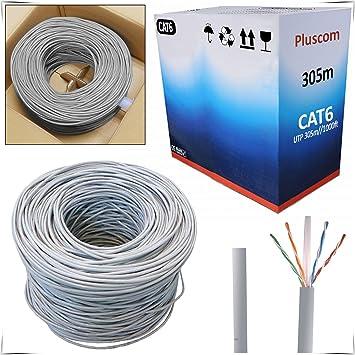 Safekom 305 M RJ45 cat6e rollo Bobina de cable Gigabit Ethernet de red UTP Router ADSL