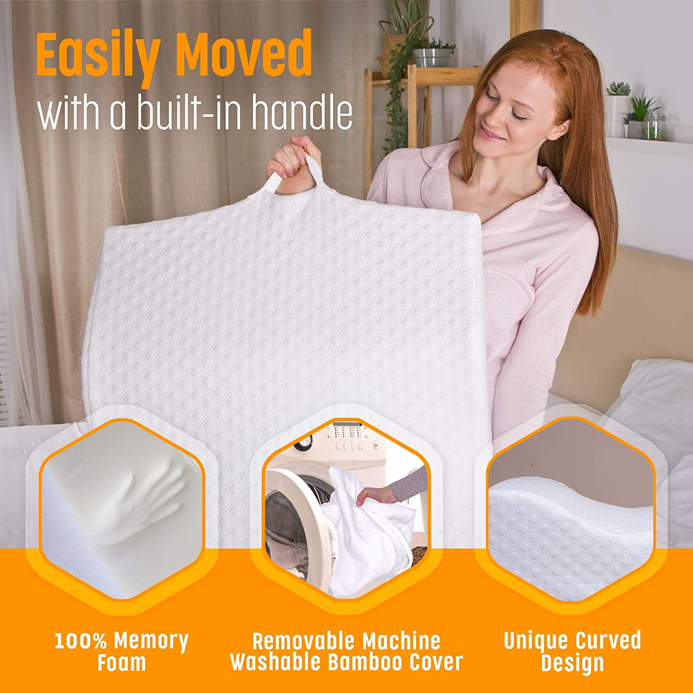 AERIS Memory Foam Bed Wedge Pillow for
