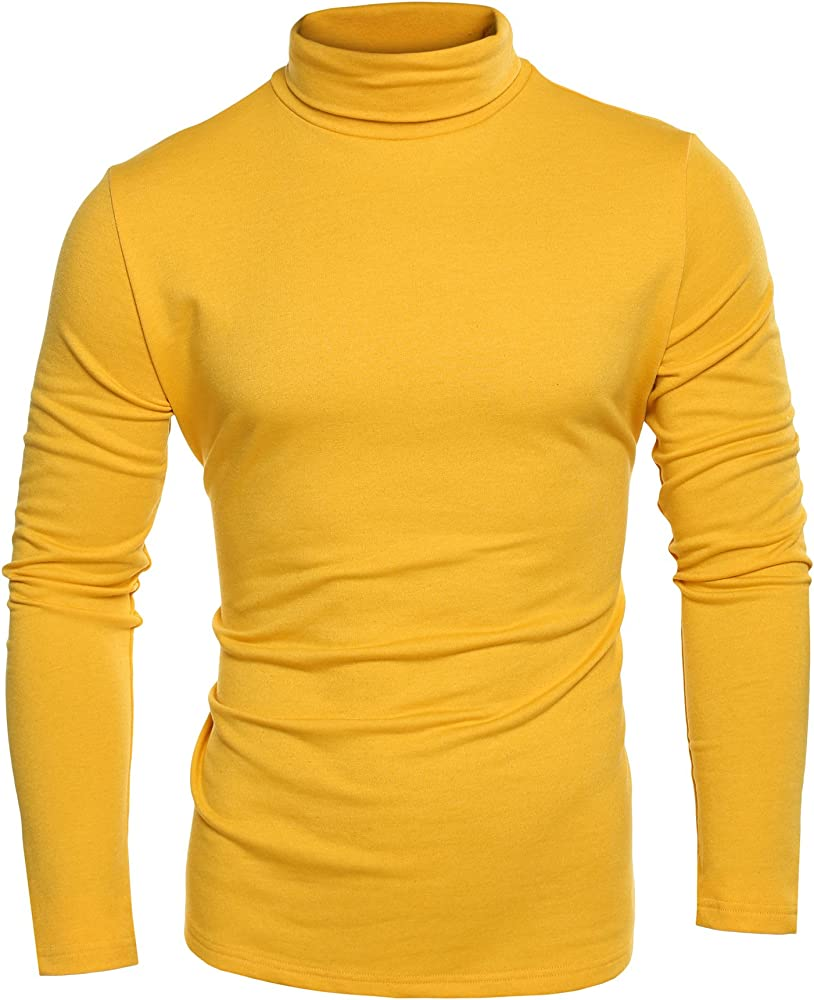 Camisetas para hombre Casual Slim Fit Basic Thermal manga larga cuello alto sólido Jersey Top: Amazon.es: Ropa y accesorios