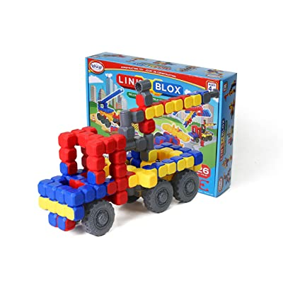 Popular Playthings LinkaBLOX Deluxe Construction System: Toys & Games