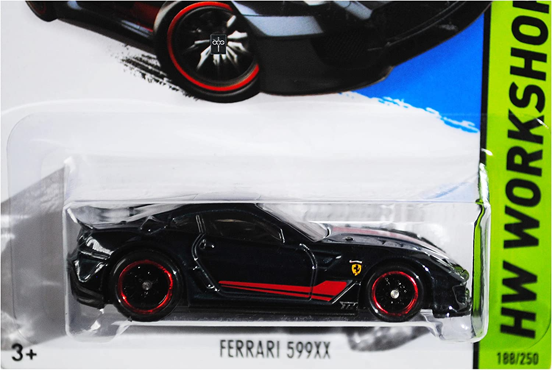 Amazon Com Hot Wheels 2015 Thrill Racers Ferrari 599xx Super Treasure Hunt Spectraflame Black Card 188 250 Everything Else