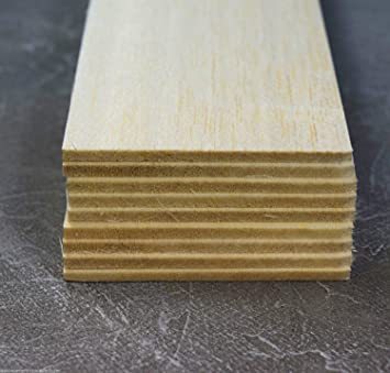 Amazon.com: wws Balsa Wooden Sheets 3.2mm (1/8) Diameter ...