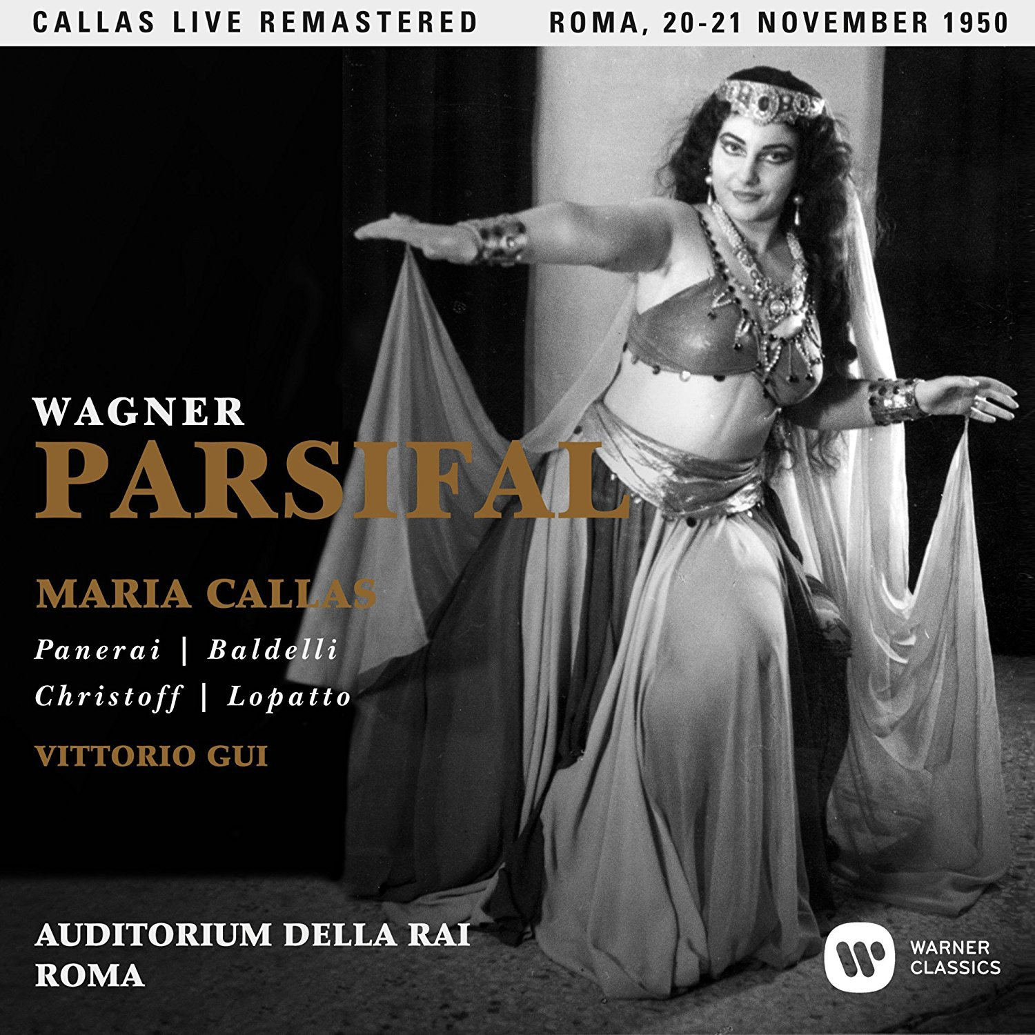 CD : Maria Callas - Wagner: Parsifal (roma 20-21/ 11/ 1950) (CD)