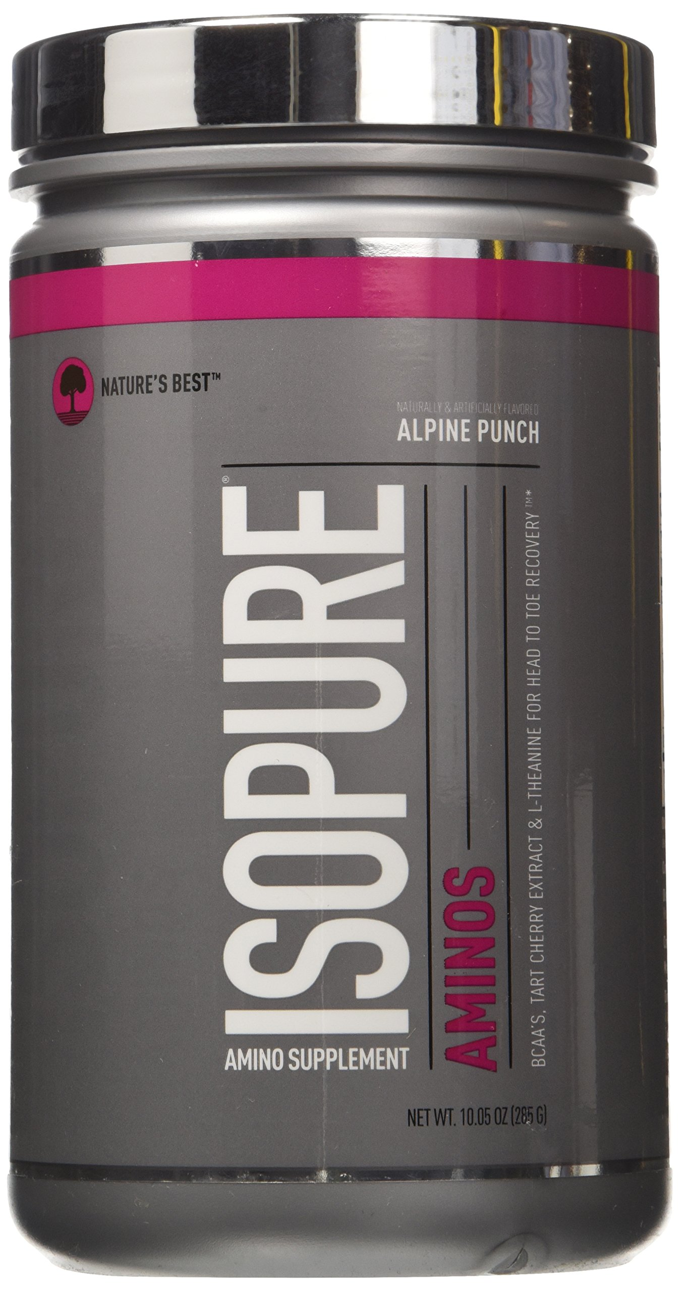 Isopure Amino Supplement, with BCAAs, Essential Amino Acids and L-Theanine, Flavor: Alpine Punch, 285 Gram