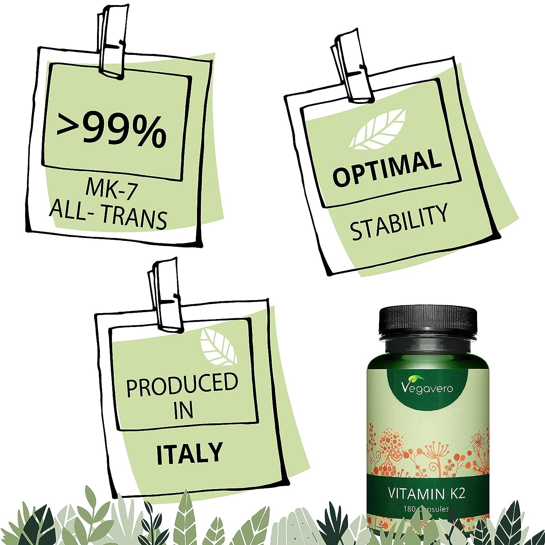 Vitamina K2 Vegavero® | Vegana: del Natto | ALL-TRANS >99% | SIN ...