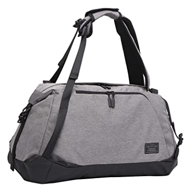 e7543cd72b54 Loiee 3 Way Gym Sports Bag with Shoe Copartment Foldable Travel Duffel  Backpack Canvas Holdall for