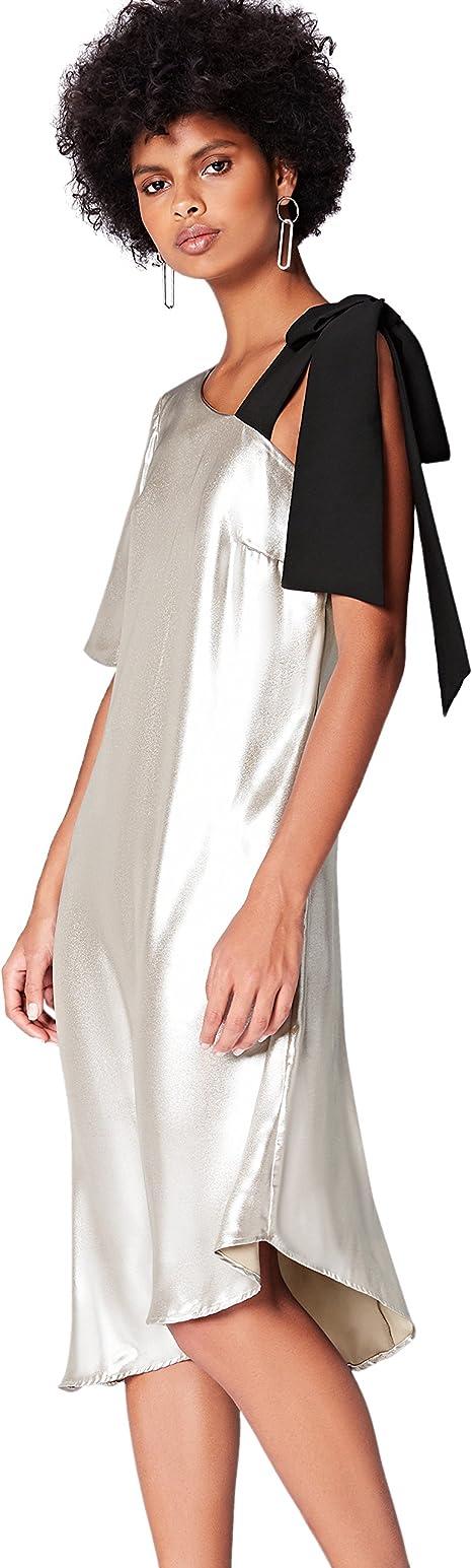 TALLA 48. Marca Amazon - find. Vestido Midi Asimétrico Mujer