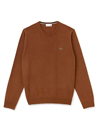 Lacoste Men s Wool Sweater Grey at Amazon Men s Clothing store  8023477fafa
