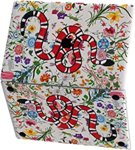 Mertak Vinyl Skin Compatible with MacBook Air 13 inch Mac Pro 16 15 Retina 12 11 2020 2019 2018 2017 Laptop Insect Embroidered Snake Touch Bar Cover Print Flowers Serpent Wrap Botanical Keyboard Decal