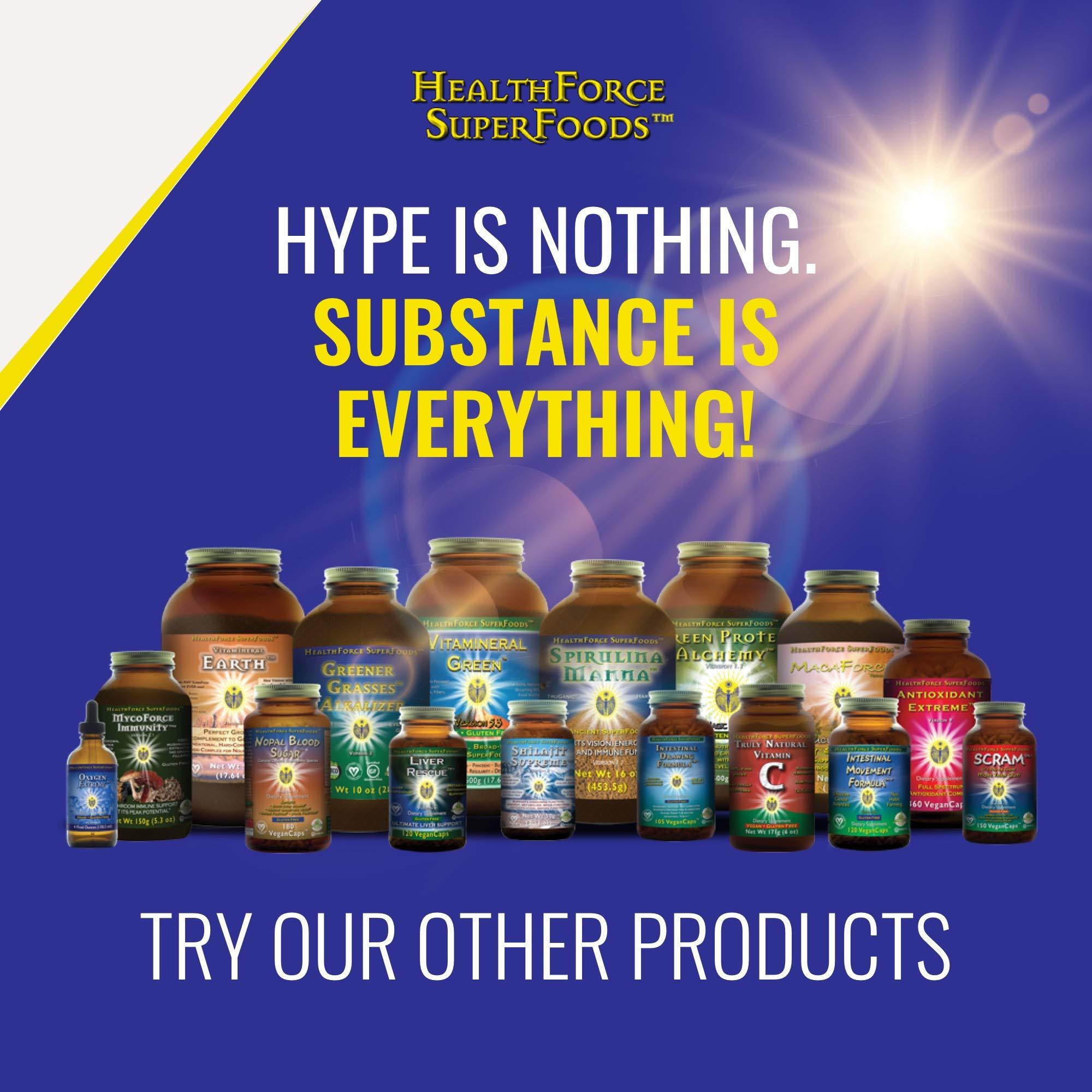 HealthForce SuperFoods Intestinal Movement Formula, Herbal Laxative, All-Natural, Organic, Non-GMO, Gluten-Free, Kosher, Vegan, 120 Count by HEALTHFORCE SUPERFOODS (Image #9)