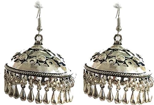 Ethnic earrings sterling silver earrings tribal earrings stud earrings jumki ear