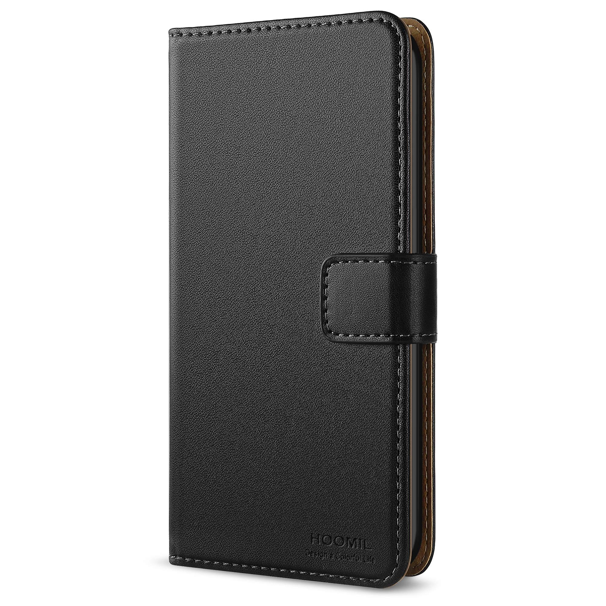HOOMIL iPod Touch 6th Generation Case Premium Leather Apple iTouch 5/6 Case Protective Cover for Apple iPod Touch (5th Generation) - Black (HU3118)