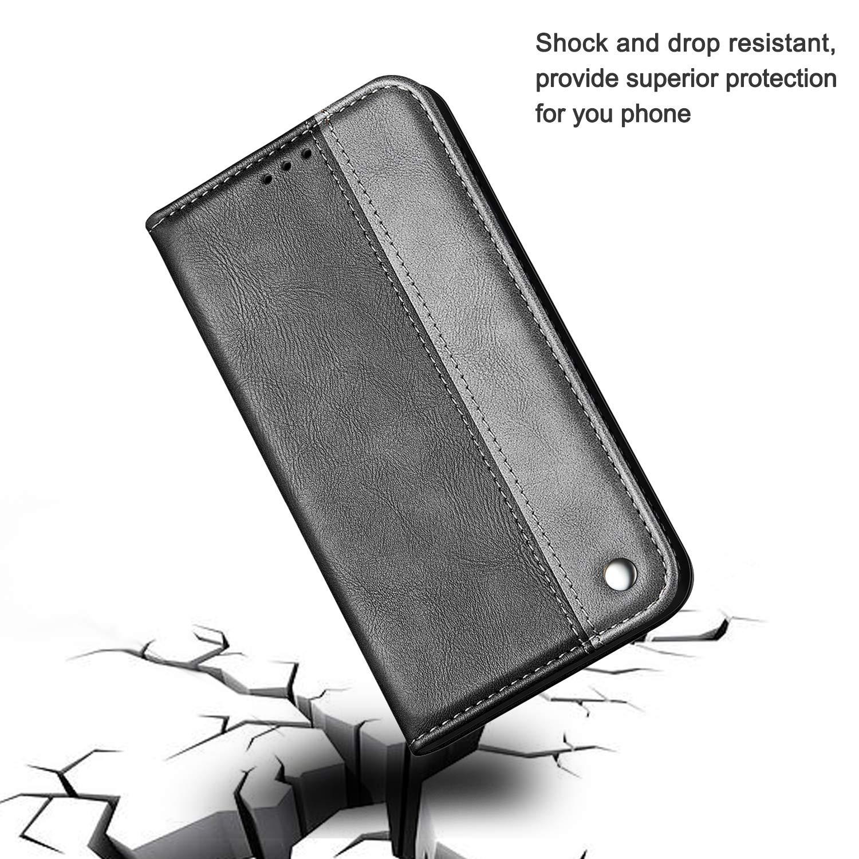 Nadoli Leder H/ülle f/ür iPhone 6S 4.7,Einfarbig Splei/ßen Entwurf Retro Edel Premium Stand Feature Kartenf/ächer Magnet Flip Brieftasche Schutzh/ülle Etui Schale f/ür iPhone 6S//6 4.7