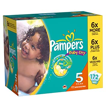 Amazon.com: Pampers Baby Dry Diapers, Size 5, 172 Count: Health ...