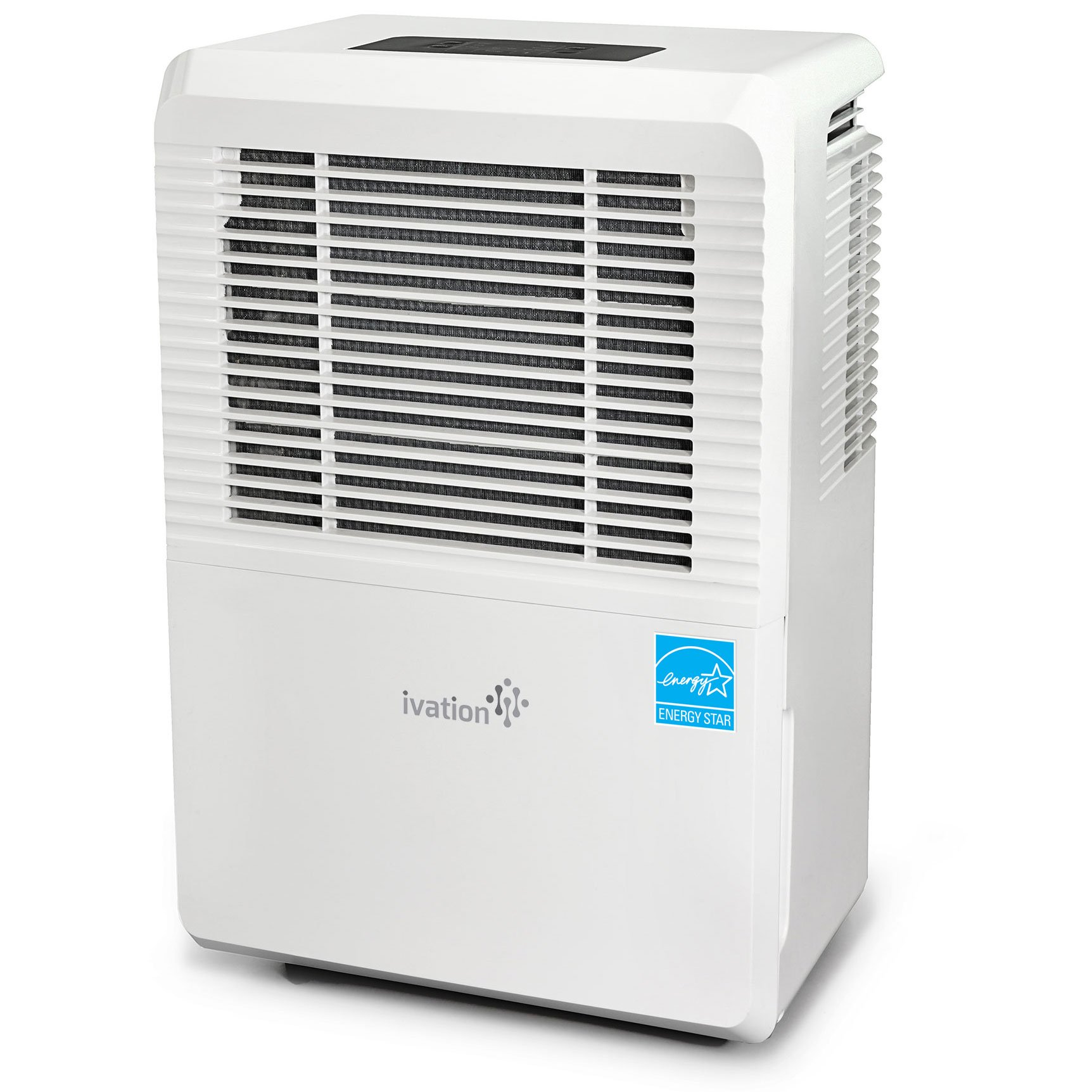Ivation 70 Pint Energy Star Dehumidifier - Large-Capacity For Spaces Up To 4,500 Sq Ft - Includes Programmable Humidistat, Hose Connector, Auto Shutoff/Restart, Casters & Washable Air Filter, White,  by Ivation