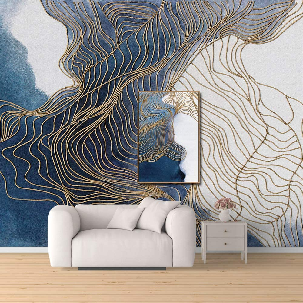Wall26 Wall Mural Creative Idea Abstract Lines Removable Self Adhesive Large Wallpaper 100x144 Inches Amazon Com