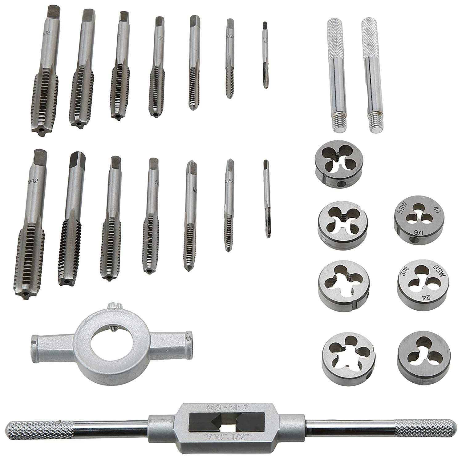 23 Piece Whitworth Tap and Die Set TP126 Toolzone