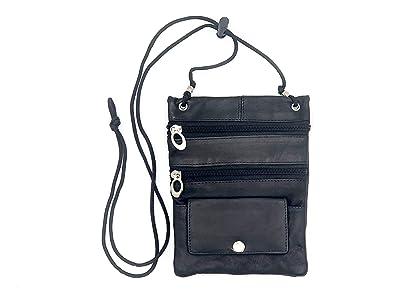 8bc412bdf7d8 Goson Leather Purse Organizer Shoulder Bag 4 Pocket Micro Handbag Travel  Wallet