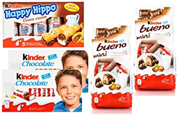 Amazon.com : Kinder Chocolate Variety Pack, Bundle of 5 : Grocery ...