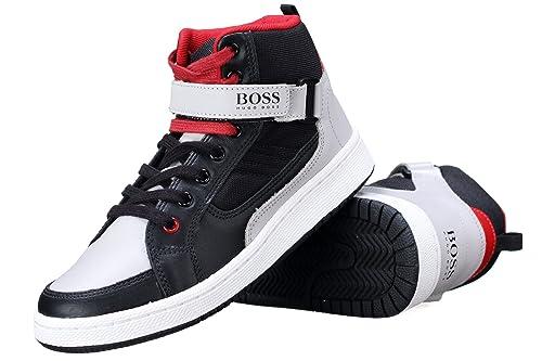 Hugo Boss - Zapatillas de Deporte para niño Negro Negro: Amazon.es: Zapatos y complementos
