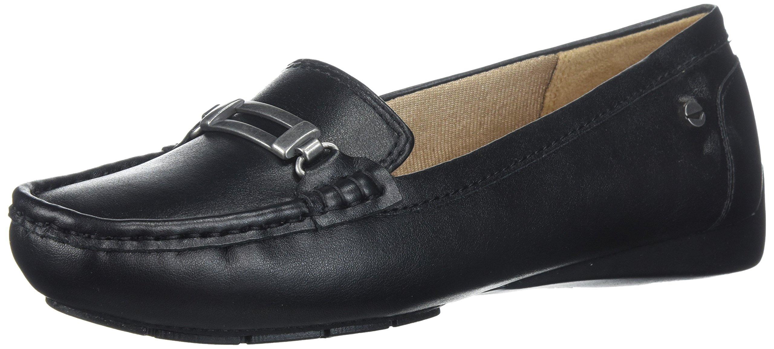 LifeStride Women's Viana Driving Style Loafer, Black, 9 M US