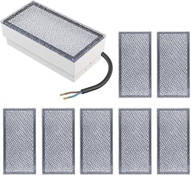 parlat LED Pflasterstein Wegeleuchte CUS 10x10cm 230V warm-wei/ß 5 Stk.