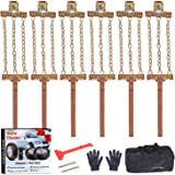 EASE2U E Snow Chains, Tire Chains for Suvs, Cars, Sedan, Family Automobiles,Heavy Trucks with Update Adjustable Lock for…