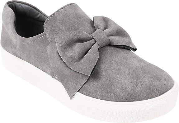 black platform slip on shoes