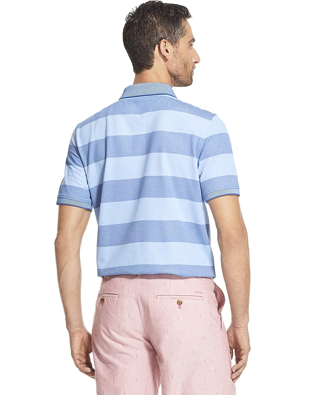 IZOD Mens Advantage Performance Short Sleeve Stripe Polo