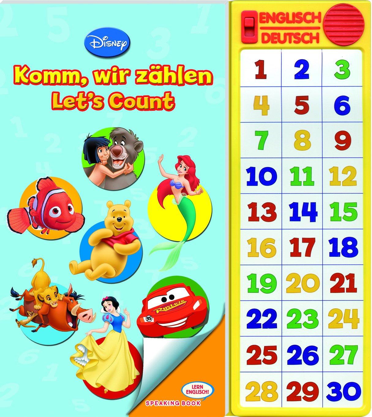 Disney - Komm, wir zählen/Let´s Count, Lern Englisch/Speaking Buch, Buch mit zweisprachiger Soundleiste