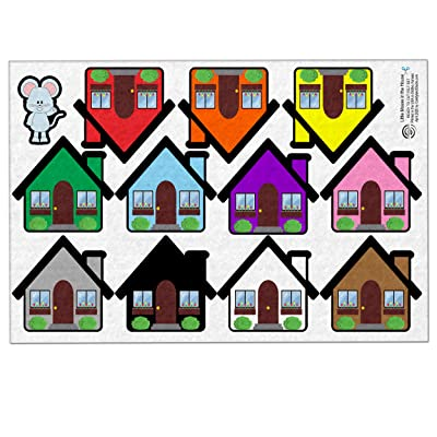 Candyland Studio Little Mouse in The House Flannel Board Pretend Play Felt Set (Uncut Sheet): Toys & Games