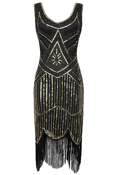 f013b02e48 BABEYOND 1920s Flapper Dress Roaring 20s Great Gatsby Costume Dress Fringed  Sequin Dress Embellished Art Deco Dress