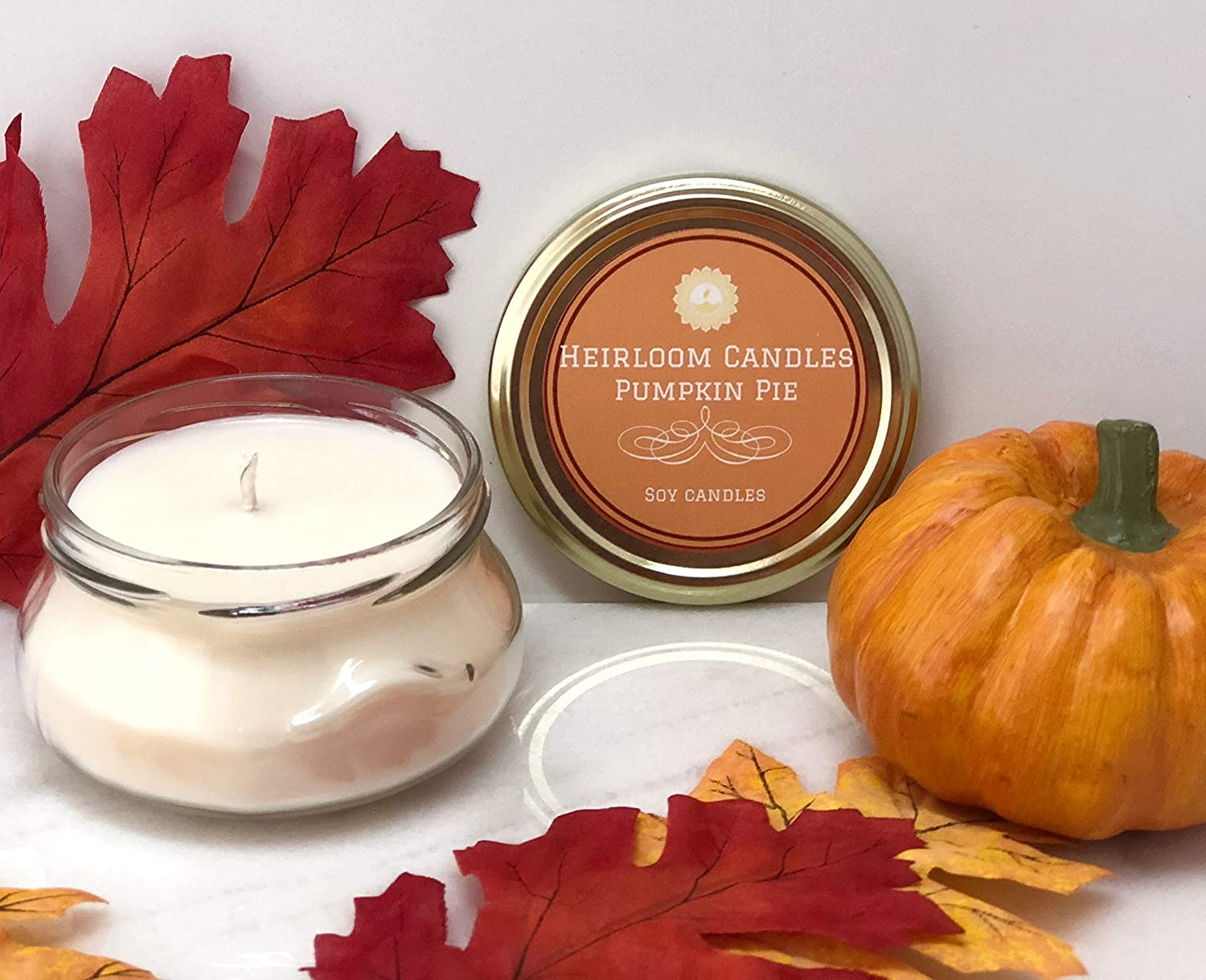 Pumpkin Pie Scented Soy Candle - Spice Candle - Handmade, 6oz