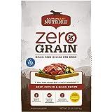 Rachael Ray Nutrish Zero Grain Natural Dry Dog Food, Beef, Potato & Bison Recipe, 22 Pounds, Grain Free