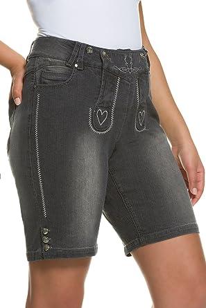 a1f754121d Ulla Popken Women's Plus Size Dirndl Denim Shorts 706146 at Amazon Women's  Clothing store: