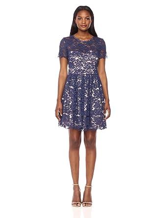 41450ec3e1d Eliza J Women's Fit & Flare Lace Dress at Amazon Women's Clothing store: