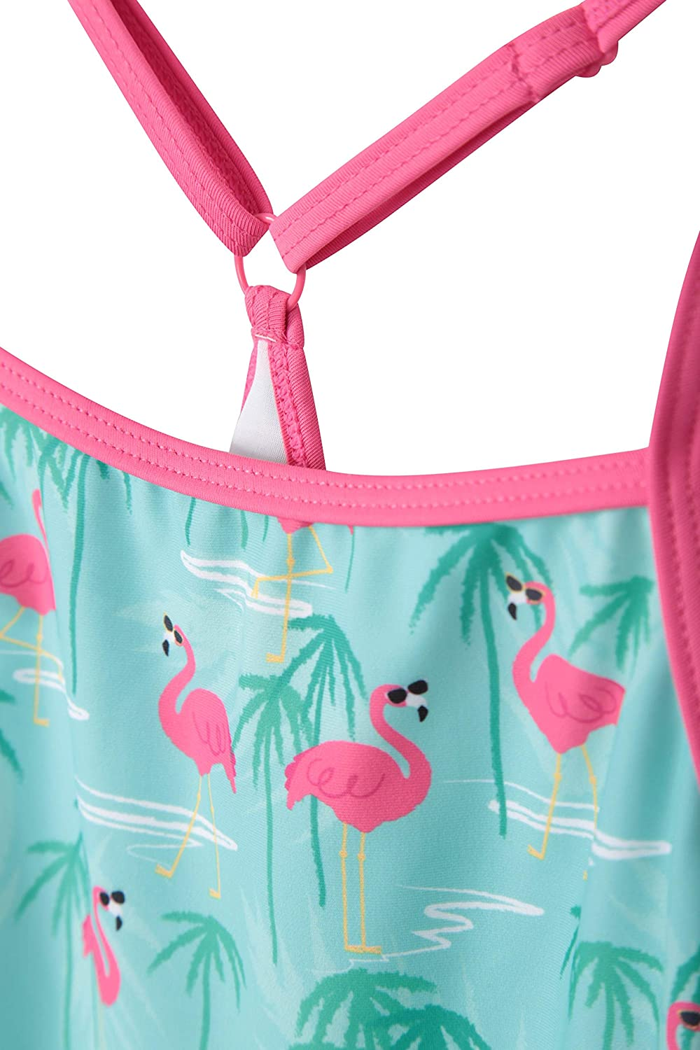 Chlorine Resistant Lightweight Girls Tankini Top Stretchable Top /& Bathing Suit Bottoms Mountain Warehouse Kids Printed Tankini with Matching Bottoms for Swimming