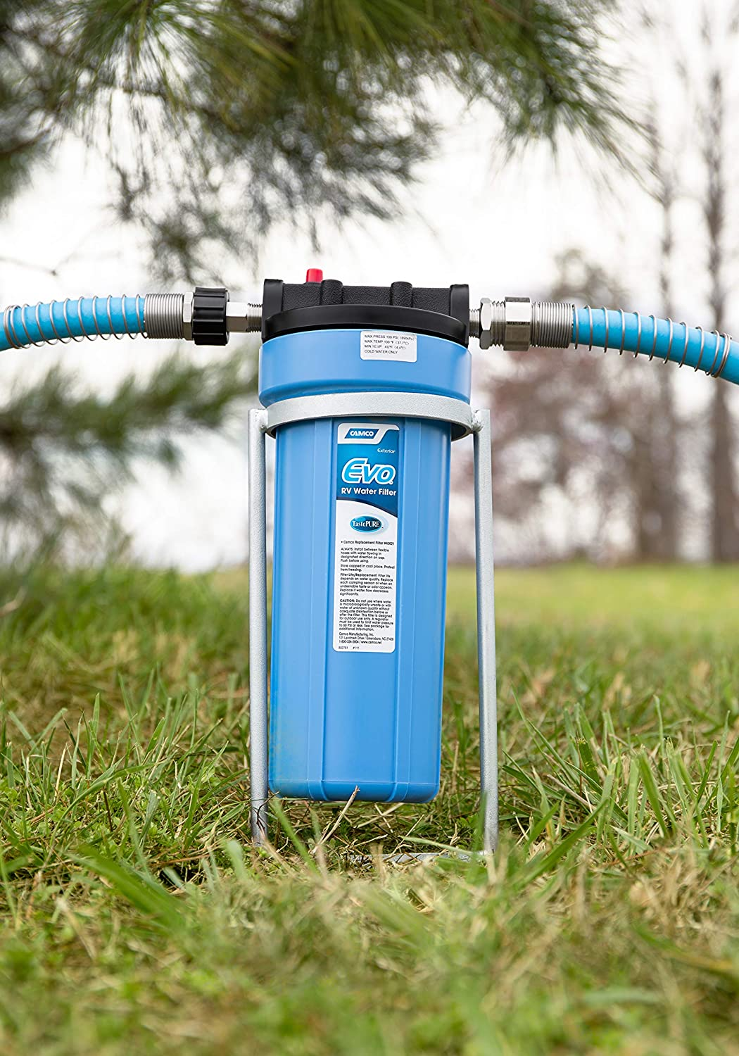 Amazon Com Camco Evo Premium Rv Marine Water Filter Greatly Reduces Bad Taste Odor Sediment Bacteria Chlorine And Much More 40631 Automotive