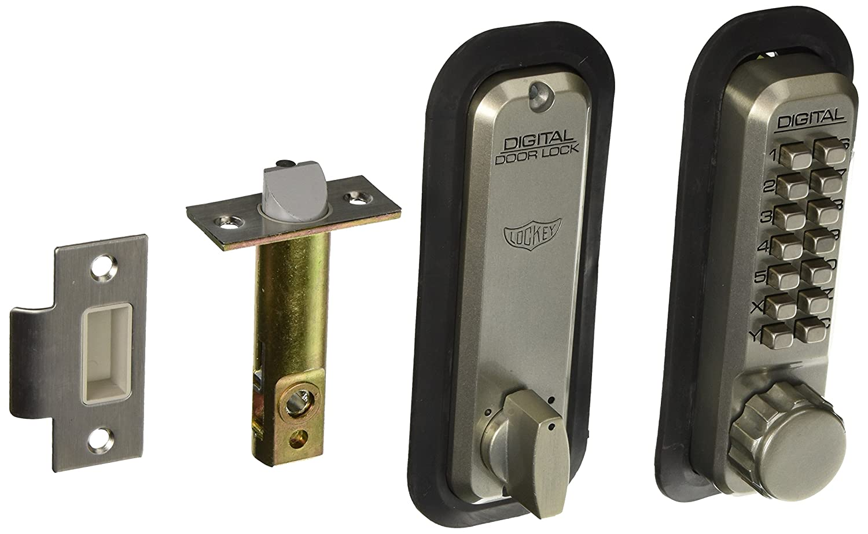 Lockey USA 2230 デッドロックラッチメカニカルプッシュボタンロック 2830SN 1 B00PS9GBJ2  サテンニッケル