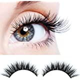 Handmade 3D luxurious 100% Real Mink Natural Long Cross False eyelashes - Reusable Makeup Crisscross Fake eye lashes Extension- Eyelash Strips (2 Pair)