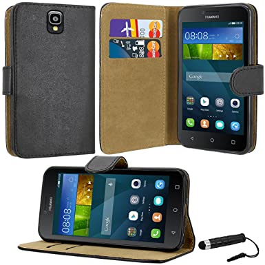 Case Collection Premium Leather Folio Cover for Huawei Y3 Case